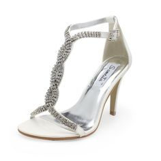 nice Women's Leatherette Upper Stiletto Heel Pumps Sandals With Rhinestone Wedding Bridal Shoes / Party Shoes