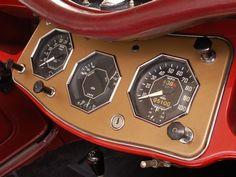 1954 MG TF dash. Beautiful octagonal instruments! Not like my tf today!