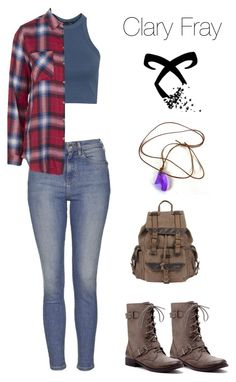 """""""Clary fray inspired outfit"""" by liz-lite on Polyvore featuring Topshop, Sole Society and Wilsons Leather"""
