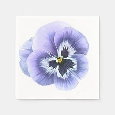 Shop Pansy Face Purple Paper Napkins created by Artellus. Sola Wood Flowers, Ecru Color, Rock Crafts, Flower Images, Paper Napkins, Pansies, Adulting, Watercolor Flowers, Art For Kids