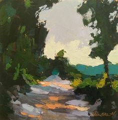 "Daily Paintworks - ""Summer Backroad"" - Original Fine Art for Sale - © Mary Gilkerson"