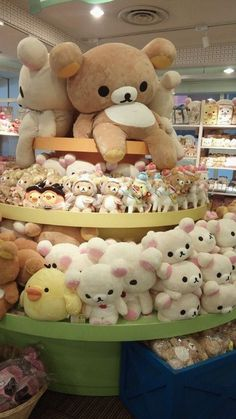 Rilakkuma is one of the more famous and recent of teddy bear characters from Japan. He is quite kawaii Kawai Japan, Kawaii Room, Cute Stuffed Animals, Cute Pillows, Cute Teddy Bears, Cute Plush, Cute Japanese, Cute Toys, Kawaii Cute