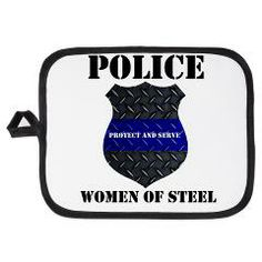 Police Women Of Steel Badge Potholder > Police Women Of Steel Diamond Plate Badge > The Art Studio by Mark Moore