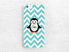 Penguin chervon Custom Phone Case for iPhone, Sony z1 z3 compact, LG g3 g2 Nexus 5, Moto X Moto G, HTC, monogram case with personalized name