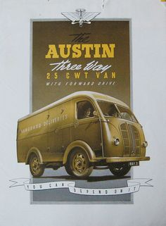 Austin 25cwt poster