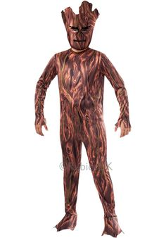 Kids Costume Inspiration: Guardians of the Galaxy was an epic film, one which will not be forgotten. One of the biggest stars from the film for us was Groot! Now you can be just as epic in this Groot Kids Costume. Superhero Costumes Kids, Toddler Boy Halloween Costumes, Superhero Theme Party, Boy Costumes, Super Hero Costumes, Cosplay Costumes, Groot Costume For Kids, Groot Halloween Costume, Trendy Halloween