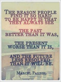 The reason people find it so hard to be happy is that they always see.