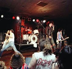 THE RAMONES Live at The Old Waldorf Nightclub, 1978. Photo by , Richard McCaffrey .