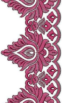 Anarkali Dress Border Embroidery Design