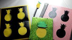 DIY VOLTA ÀS AULAS   Pineapple   Abacaxi   Cadernos DIY SCHOOL SUPPLIES - Fiama Pereira   fiamapereira.com