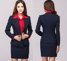 Women in Business Skirt Suits in Black | Women Skirt Suits Work Set Formal « Search Results « Black Models ...