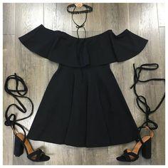 Rosy Off shoulder Dress – Dressy Girl Off The Shoulder, Shoulder Dress, Skater Dresses, Black, Style, Fashion, Swag, Moda, Black People