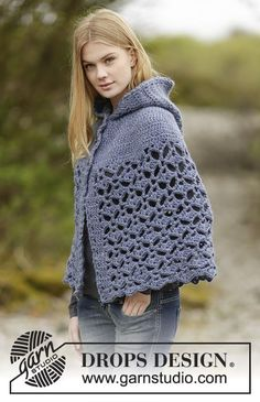 Erendruid Poncho By DROPS Design - Free Crochet Pattern - (garnstudio)