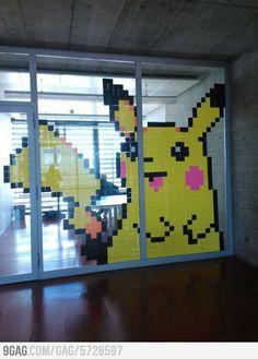 A wild Pikachu appears at school!