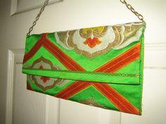 Vintage: One of a kind bag made of a vintage obi (kimono belt)