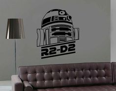 R2D2 Wall Decal Star Wars Wall Sticker R2 D2 Robot Decal Luke Skywalker Yoda Empire R2-D2 Wall Sticker For Kids Room Room