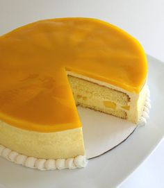 Mango Mouse Cake... im not a cake person but i might like this because i LOVE mango!