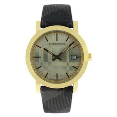 Women's Heritage Watch Dial: Gold, Strap: Leather Burberry. $298.90. Burberry BU1874 Women's Slim Gold Tone Stainless Steel Leather Band Watch. Save 20% Off!