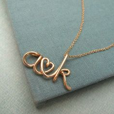 Two Lovers14K Custom Initials Necklace by Laladesignstudio on Etsy, $70.00