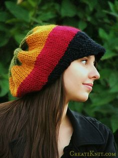 Knitting Pattern - Knit Hat Knitting pattern PDF - Rasta Hat Pattern - Winter Accessories Reggae Hat with or without brim Adorable hat. Marley Crochet, Knit Crochet, Crochet Hats, Crochet Ideas, Crochet Mittens, Crochet Projects, Warm Winter Hats, Winter Hats For Women, How To Purl Knit
