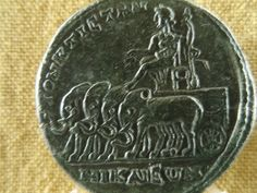 Elephant War Chariot. Reverse of Greek Imperial coin from Nikaea.