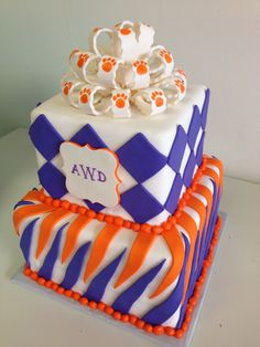 Clemson Grad Cake - AppleMark