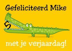 krokodil verjaardagskaart - Verjaardagskaarten - Kaartje2go