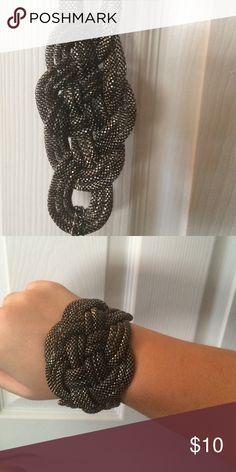 WEEKEND SALE! Chunky chain bracket Dark metal chunky chain braided bracelet Jewelry Bracelets