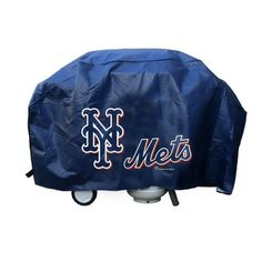 MLB New York Mets Deluxe 68-inch Grill Cover by Rico. Officially licensed products from Rico. High grade materials used to make all Rico gear. Don't let your team down, let it pop off with Rico!. Vinyl Barbecue Grill Cover Printed with Team Logo on Front and Back. Quality Vinyl 15 mil Thick will Withstand the Elements.