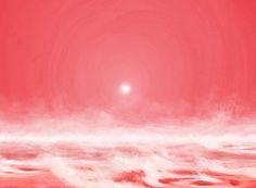HAT-P-11b - 120 anos-luz) é iluminado por uma estrela-anã vermelha e, por isso, teria céu nessa cor.