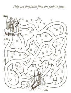 Schaapherders, kerst, kleuters