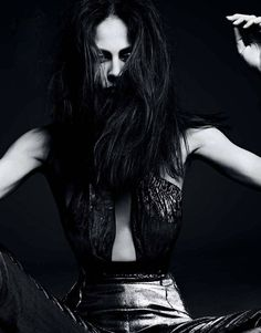 The Lady In Black-Aymeline Valade by Hedi Slimane