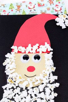 A fun kids craft for Christmas. Come and see how to make these easy DIY ornaments. Adult Crafts, Easy Crafts For Kids, Easy Diy Crafts, Handmade Crafts, Christmas Activities, Christmas Crafts For Kids, Christmas Fun, Popcorn Crafts, Santa Crafts