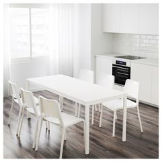 VANGSTA Extendable table White 120/180x75 cm  - IKEA