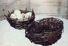 Make Your Own Twig Baskets    You can create your own twig baskets from easy to collect raw materials, including branches, vines, and palm leaves.