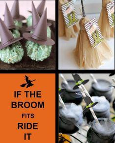 witch-decor-ideas-Halloween- broom-DIY-decor-food-party