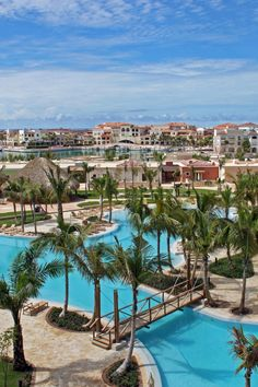 This sprawling Cap Cana retreat is dotted with palm trees and a tranquil lagoon-style pool. #Jetsetter