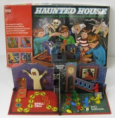 Vintage Toys Haunted House classic family board game from the .later named Which Witch - 1970s Childhood, My Childhood Memories, Childhood Toys, Family Board Games, Family Boards, Haunted House Games, Haunted Houses, Vintage Board Games, 70s Board Games