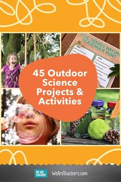 When you do outdoor science, the possibilities are endless! Dirt batteries, giant bubbles, human sundials, and so much more. Fun Activities For Kids, Science For Kids, Science Activities, Science Lessons, Science Projects, Student Learning, Kids Learning, Experiment, Nature Scavenger Hunts