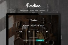 Timeline - Coming Soon Template by Linewp on @creativework247