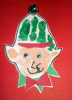Classified: Mom: Christmas Elf Handprint Craft