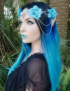 Elfe bleu Couronne par Frecklesfairychest sur Etsy