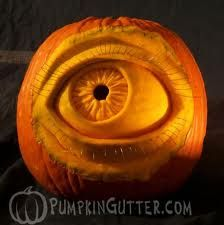 3D Carving Eye Pumpkin, pretty cool