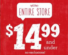 Gymboree: Everything $14.99 and Under! http://www.lavahotdeals.com/ca/cheap/gymboree-14-99/51432