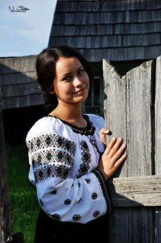 Romanian blouse. More reasons to visit Romania here: https://www.facebook.com/YouShouldVisitRomania