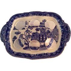 Blue Willow Egg Holder Blue Willow China, Blue China, Egg Basket, Baskets, Love Blue, Blue And White, Egg Holder, White Dishes, White Porcelain