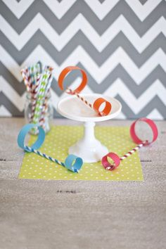 Airplanes! Tape circles to paper straw. Fly that plane!!!