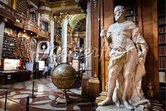 Interior of Austrian National Library, Hofburg Palace, Vienna, Austria