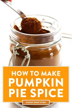 This delicious homemade pumpkin pie spice recipe is quick and easy to make with just 5 ingredients, perfect for adding to all of your favorite pumpkin spice recipes this season! Homemade Pumpkin Pie Spice Recipe, Pumpkin Pie Recipes, Homemade Cheese, Pumpkin Spice Latte, Pumpkin Pies, Vegetarian Recipes Easy, Healthy Dessert Recipes, Granola, Gimme Some Oven