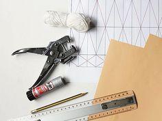 DIY tutorial: Make an Origami Lampshade  via DaWanda.com